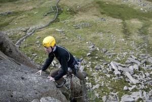 Flake Crack a fantastic route that reeks of traditional thrutching.
