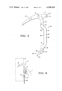 Patent for a new design of ice axe
